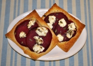Beet & Goat Cheese Tarts