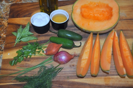 Cantaloupe Gazpacho - Ingredients