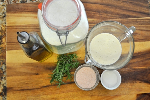 Rosemary Sourdough Crackers - Ingredients