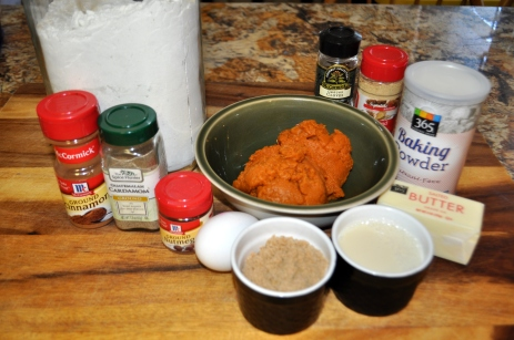 Pumpkin Scones - Ingredients