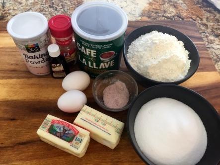 Coffee Sugar Cookies - Ingredients
