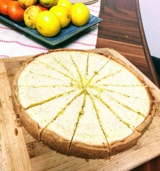 Slicing the lemon bars like a tart makes them look extra special
